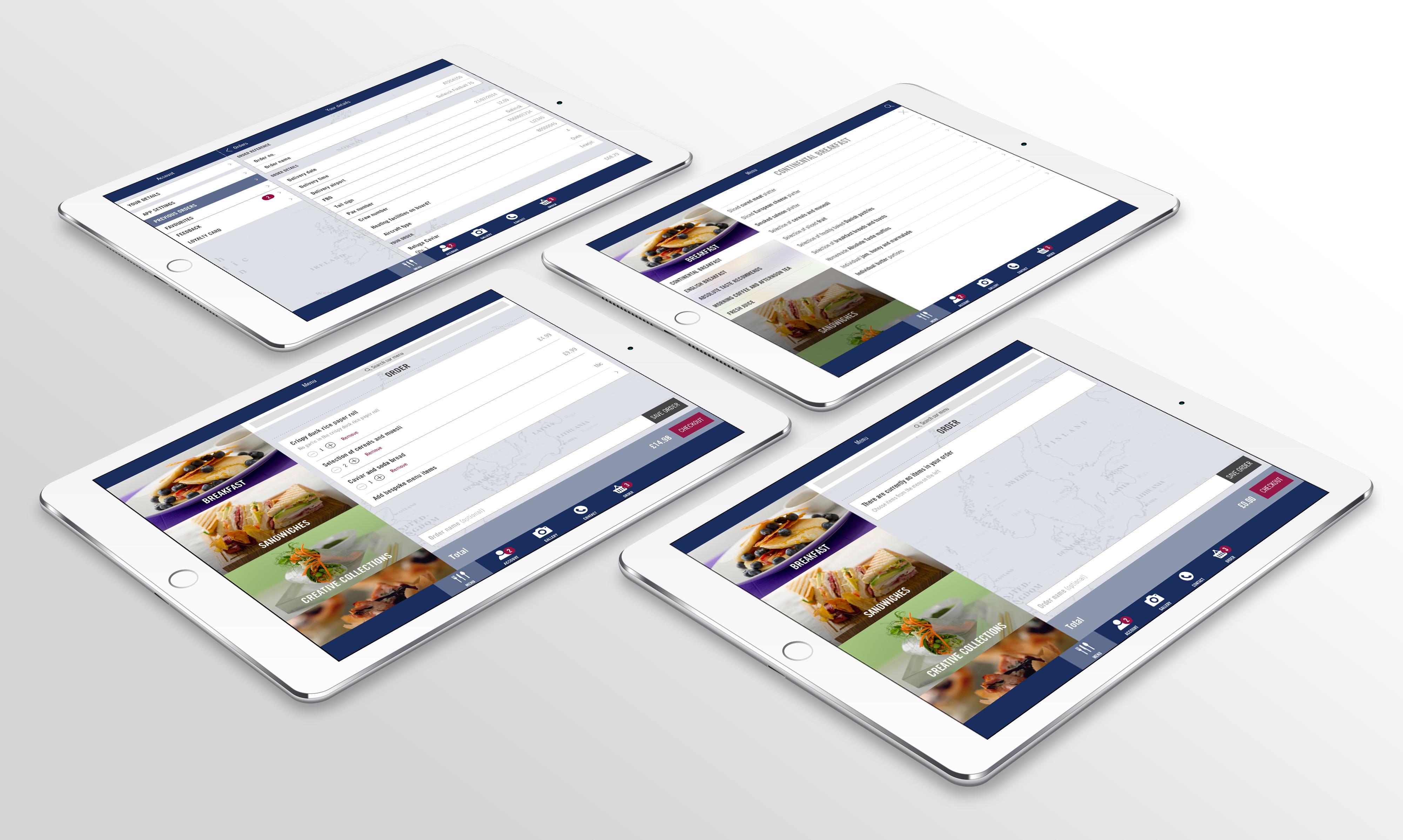 Absolute Taste app UI design on iPad