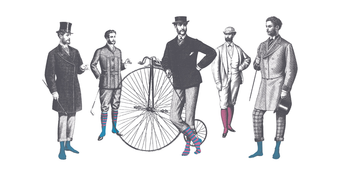 London Sock Company gentlemen branding