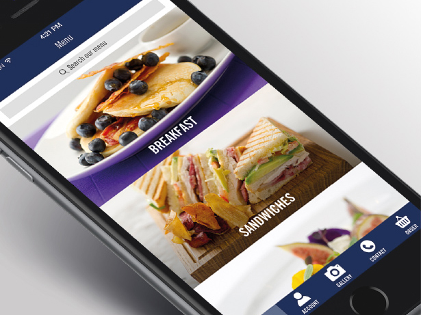 Absolute Taste app user interface design on mobile