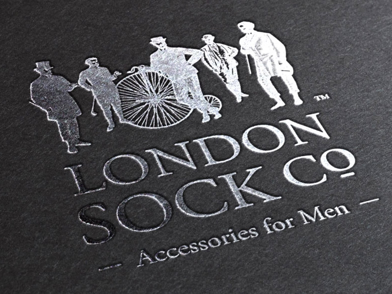 London Sock Company branding and logo on product