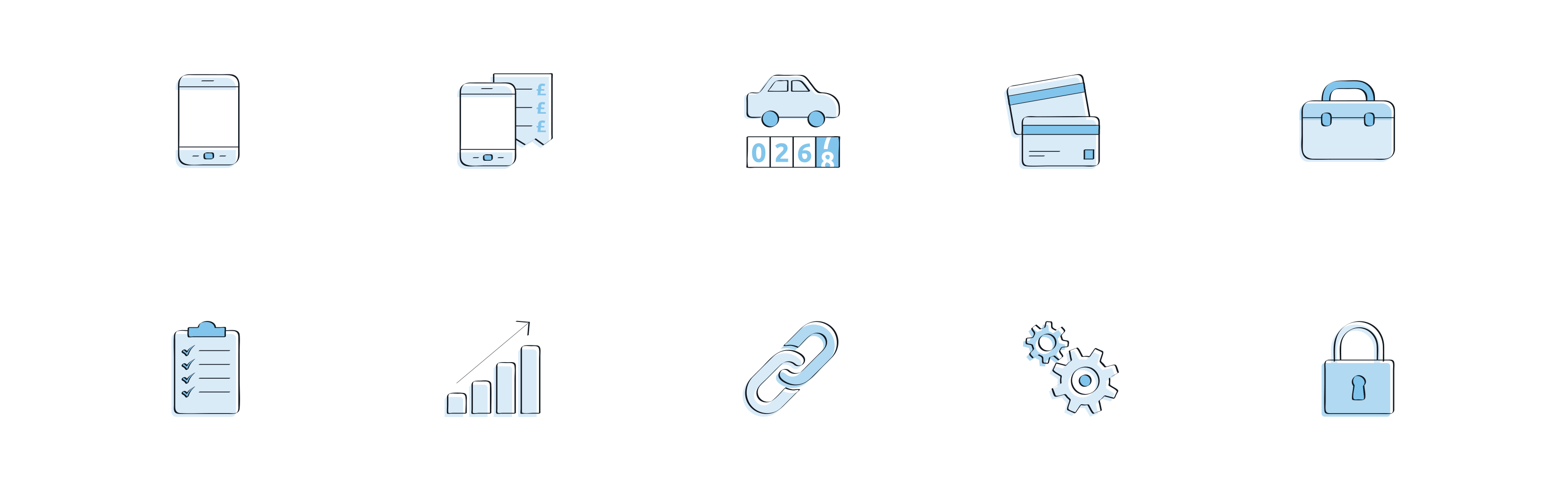 Webexpenses illustrated icon set