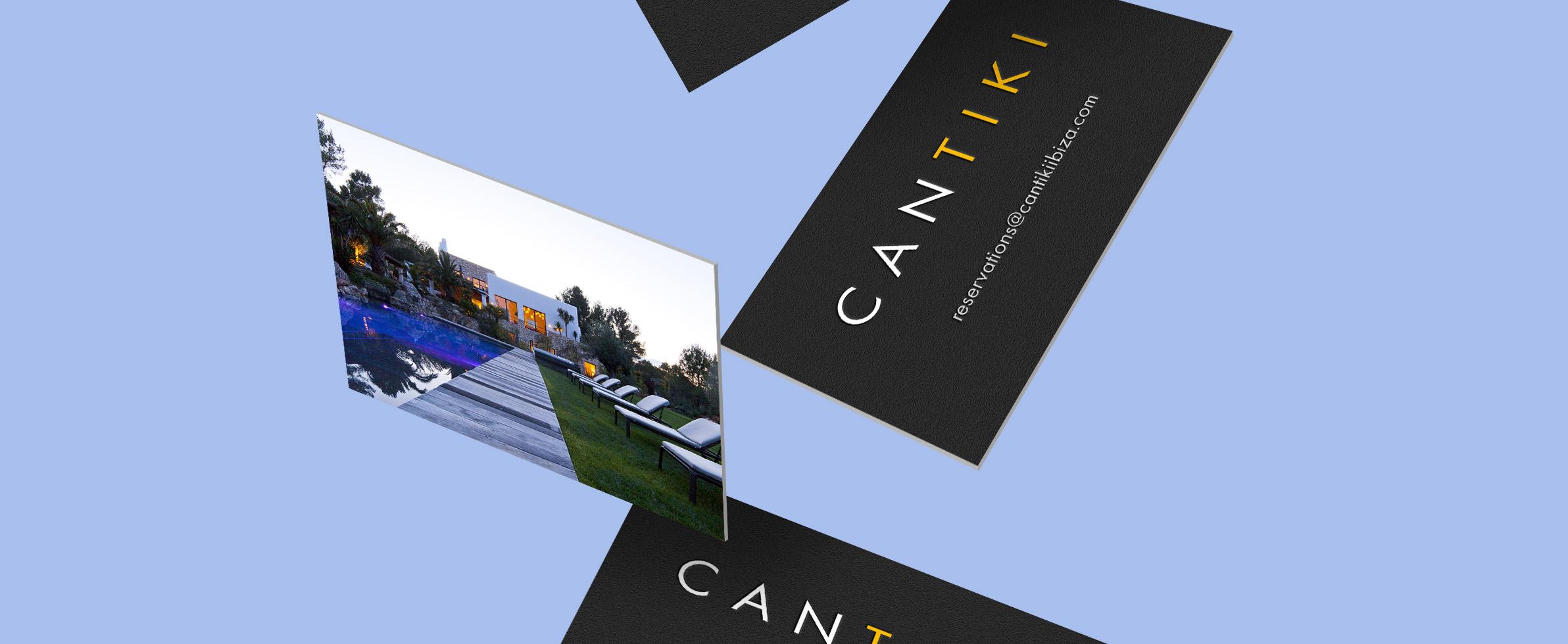 Can Tiki villa branding, logo and business card design