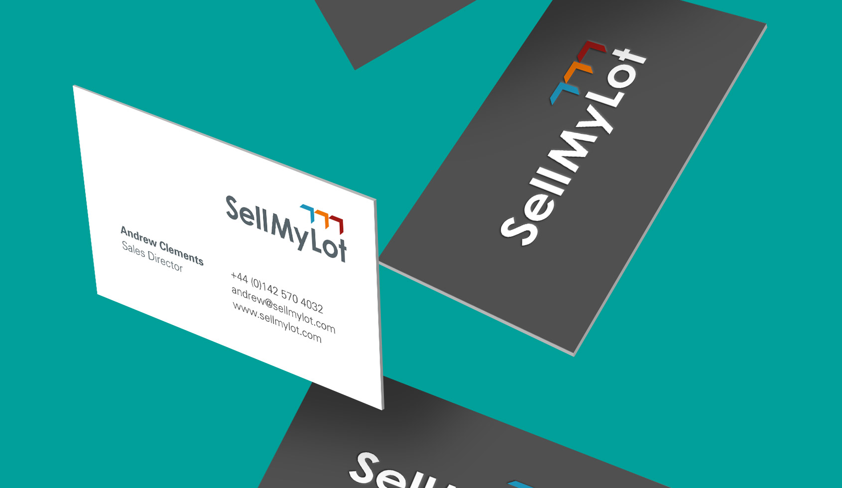 SellMyLot branding on business cards