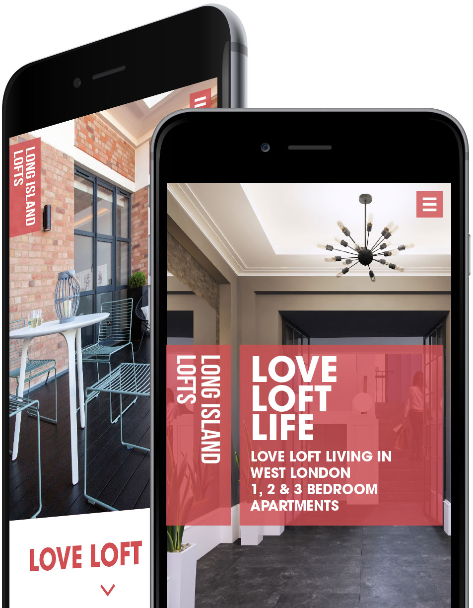 Luxury London property responsive website design and development on phones