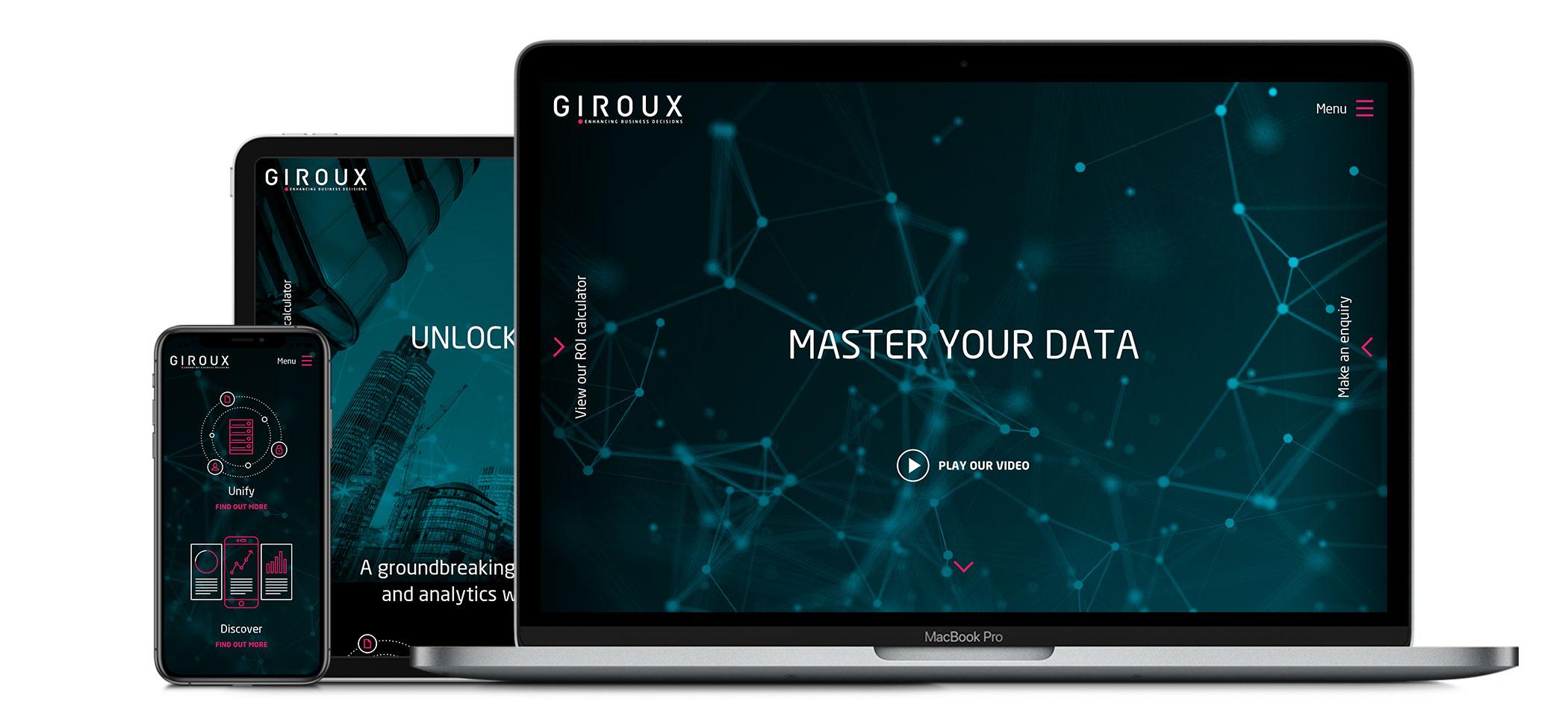 Giroux responsive website design and development