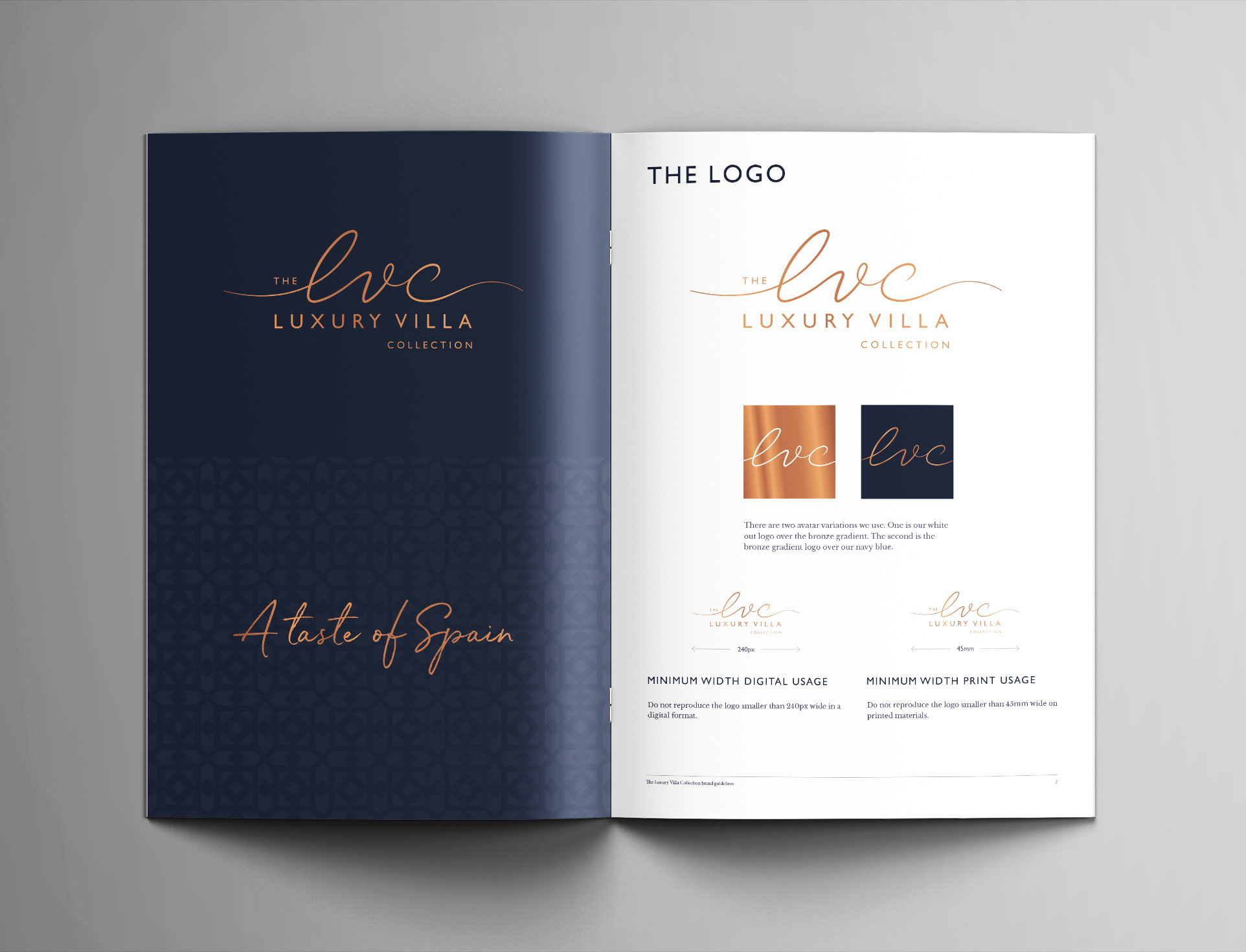 The Luxury Villa Collection brand guidelines
