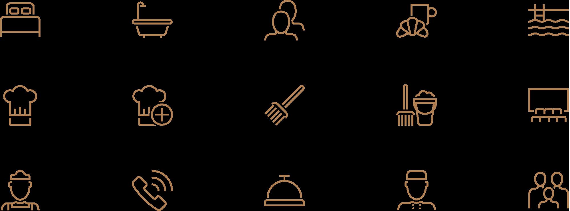 The Luxury Villa Collection custom icon set