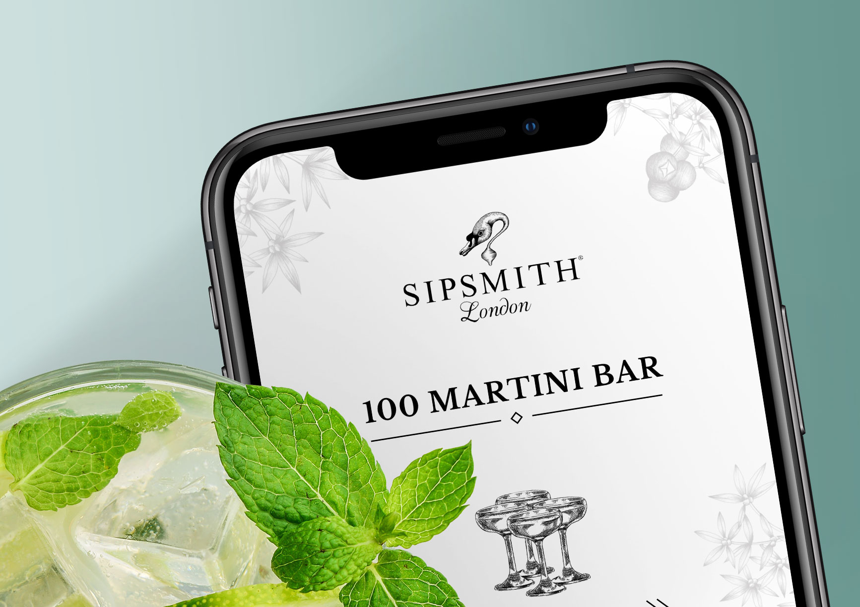 Sipsmith mobile app design