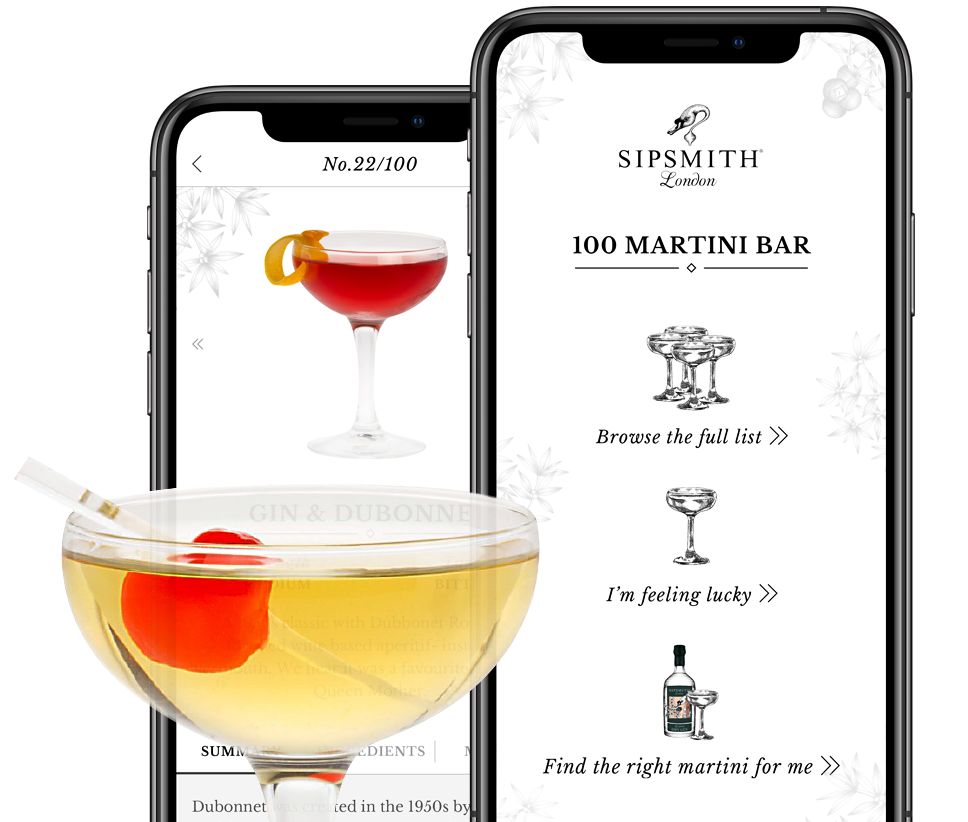 Sipsmith native app design