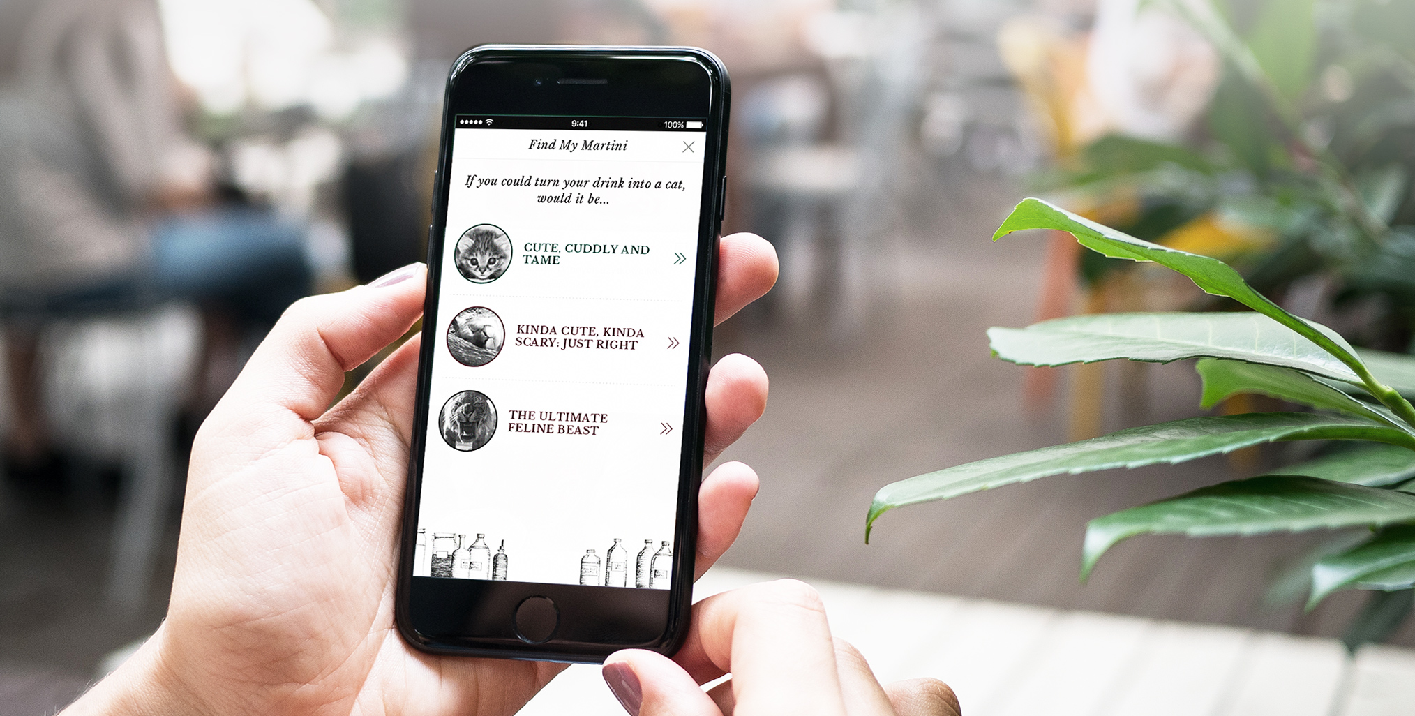 The Sipsmith app in use on mobile phone