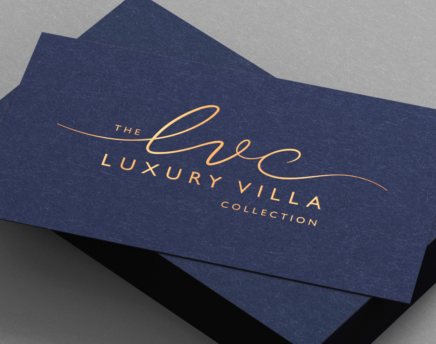 The Luxury Villa Collection business card design