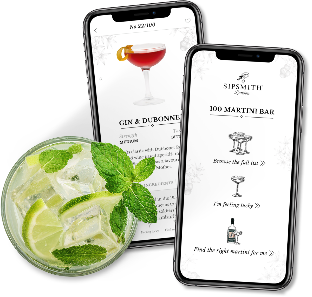 Sipsmith native app design