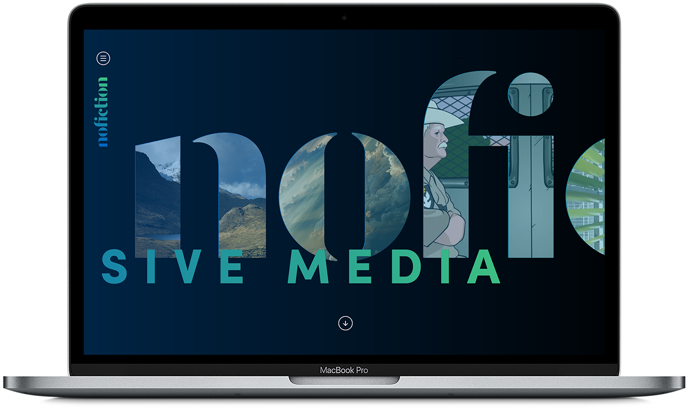 Production company homepage mockup