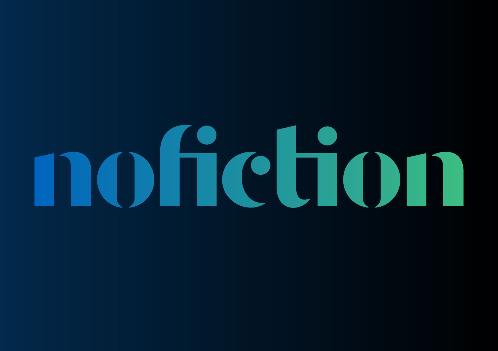 NoFiction master logo design