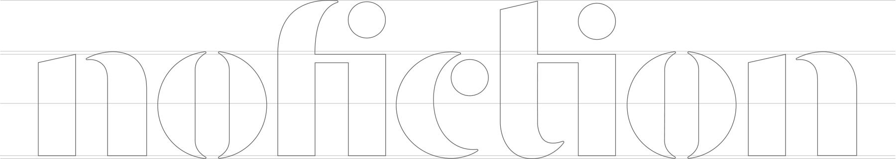 Production company custom font design