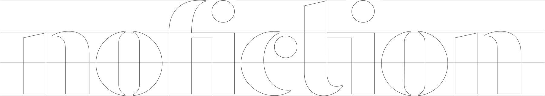 NoFiction logo custom font design