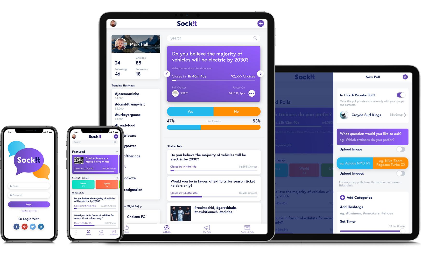 Responsive web app design