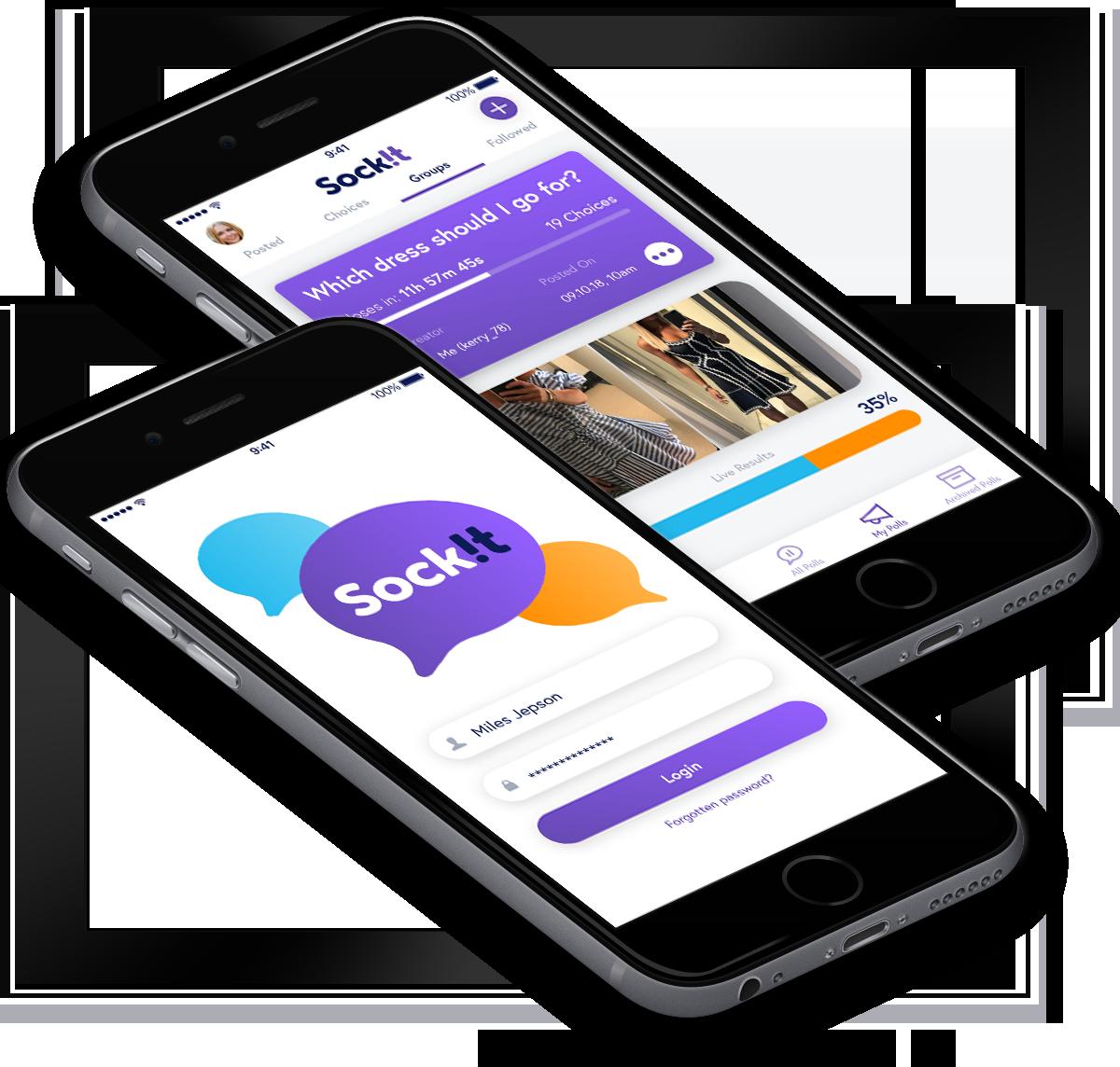Sock!t web app design and development