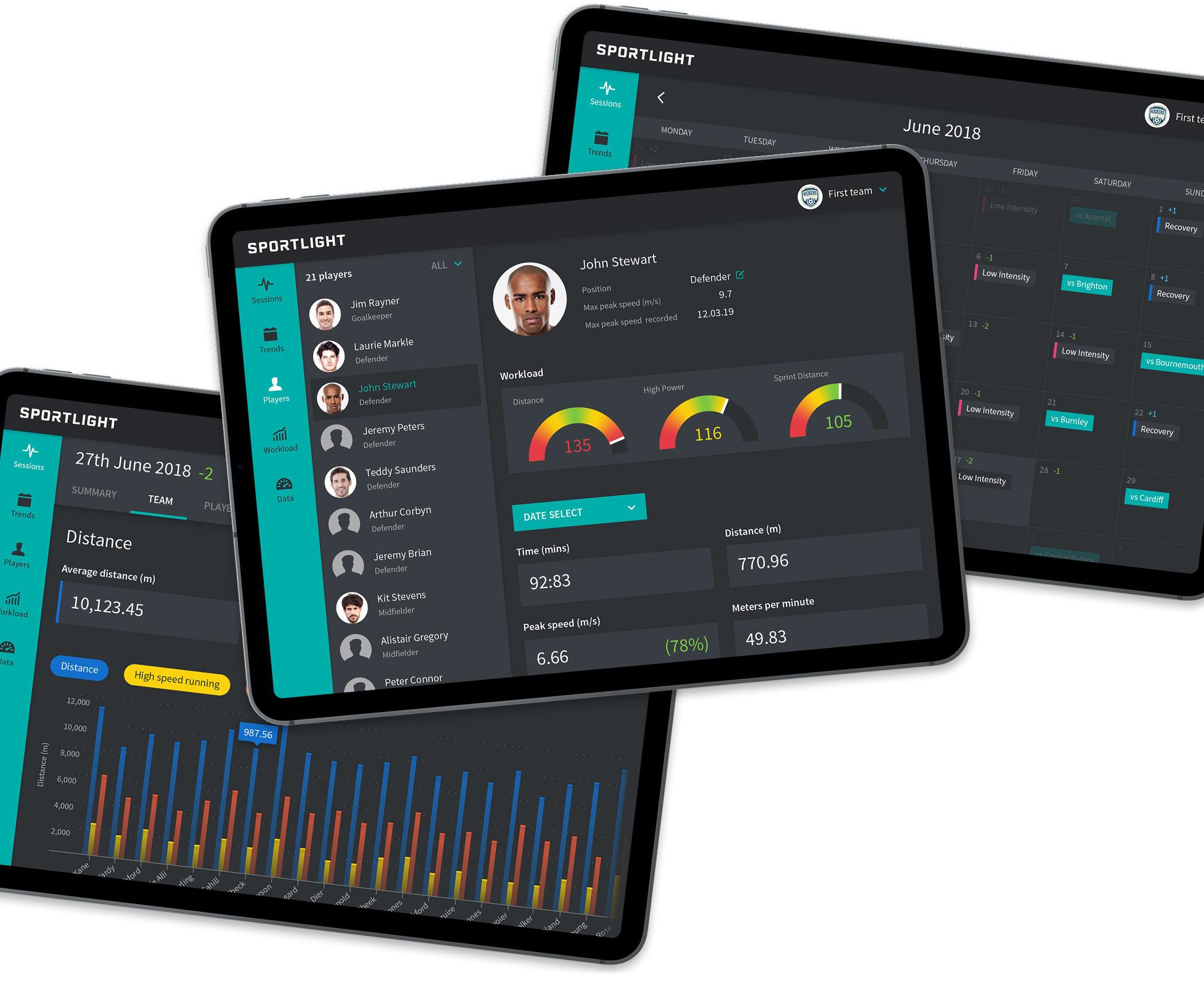 Sports analytics platform on iPad image