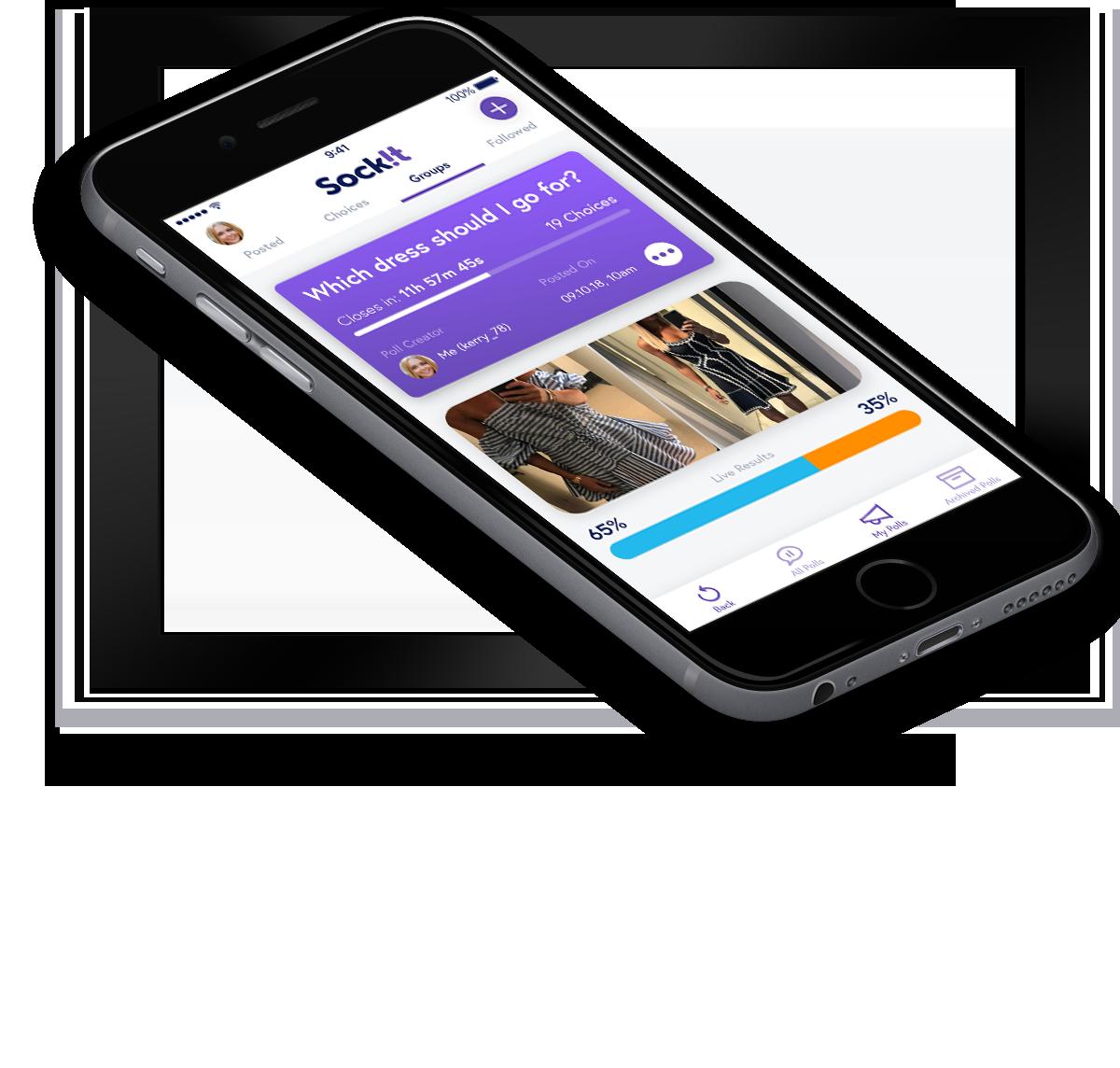 Sockit homepage on mobile