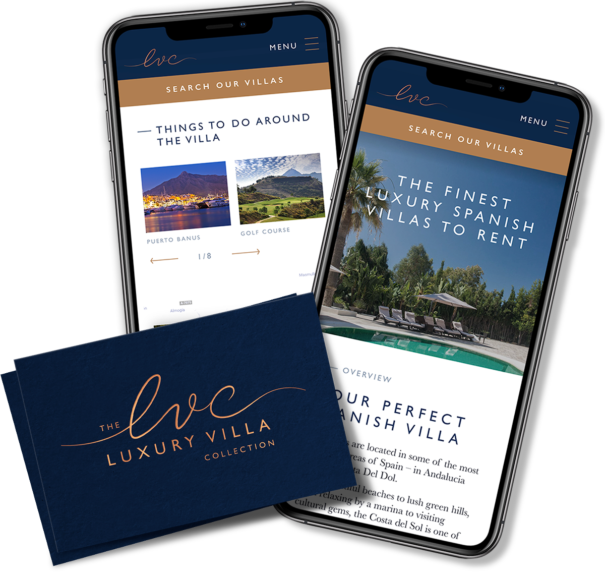 The Luxury Villa Company web app design